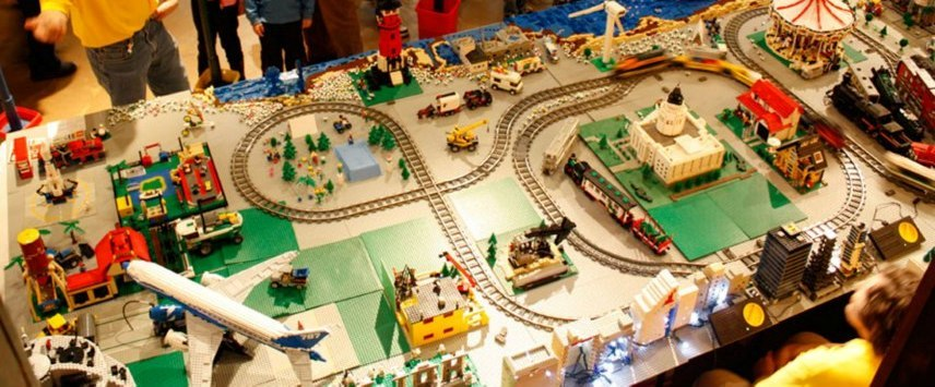 Toy Train Holiday Lego Display