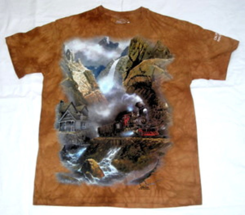 Locomotive With Waterfall Shirt W Variants