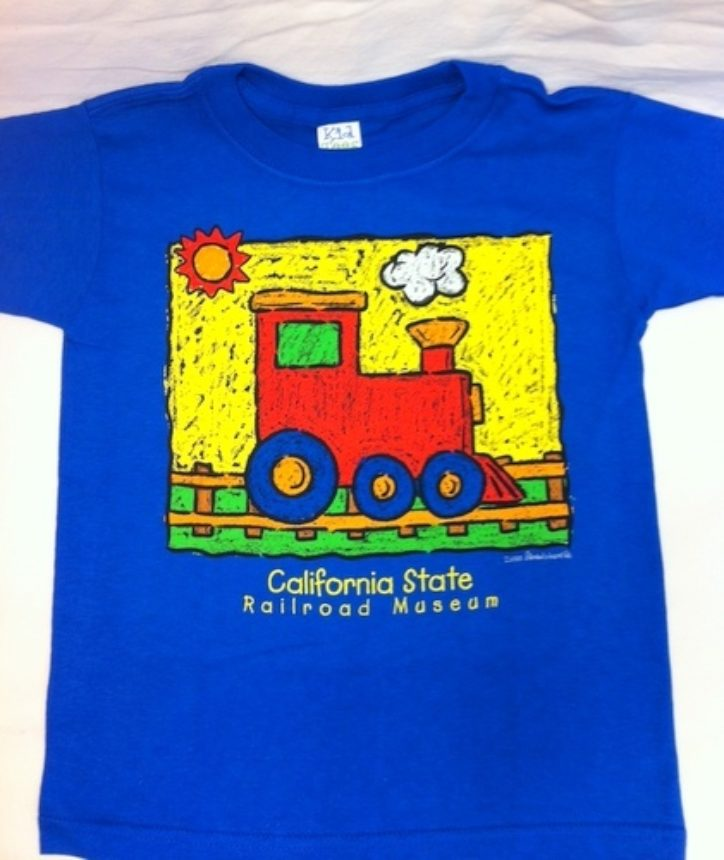 Royal Blue Steam Engine Tee Shirt
