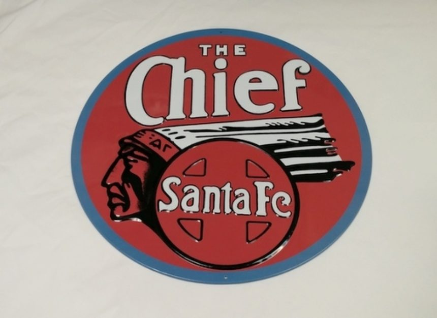 Santa Fe Chief Sign